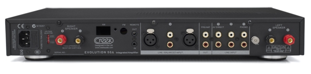 Creek Evolution 50A Integrated Amplifier - Rear