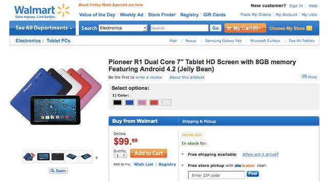Walmart Pioneer R1 ad
