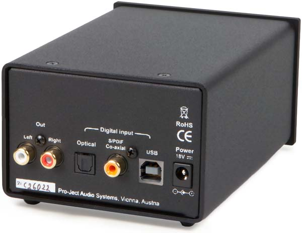 pro-ject DAC Box DS (Rear Panel) 600px