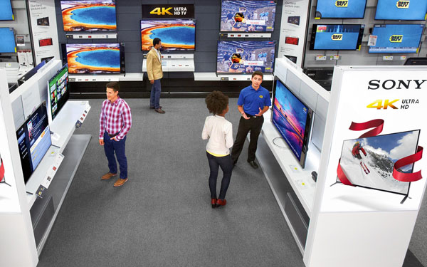 Sony store-in-store at Best Buy