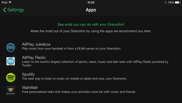 Gramofon app